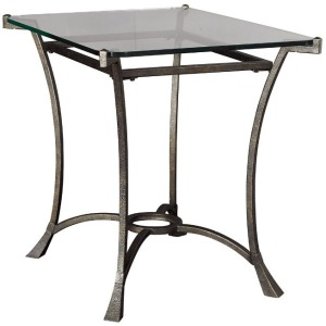 Rectangular End Table Glass Top