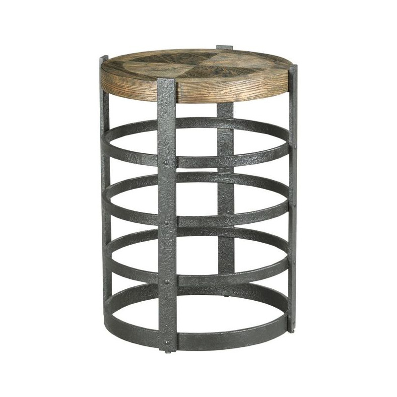 BARREL STRAP END TABLE
