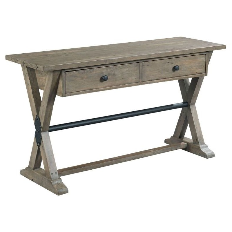 Fabulous Trestle Sofa Table By Hammary Furniture 523 925 Willis Dailytribune Chair Design For Home Dailytribuneorg