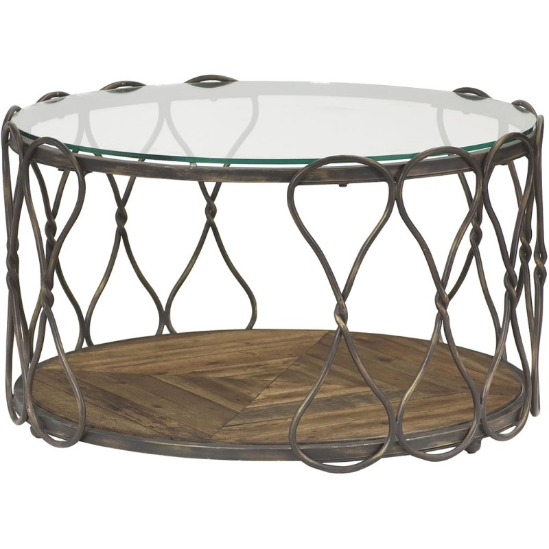 Hidden Treasures Round Cocktail Table - Kd