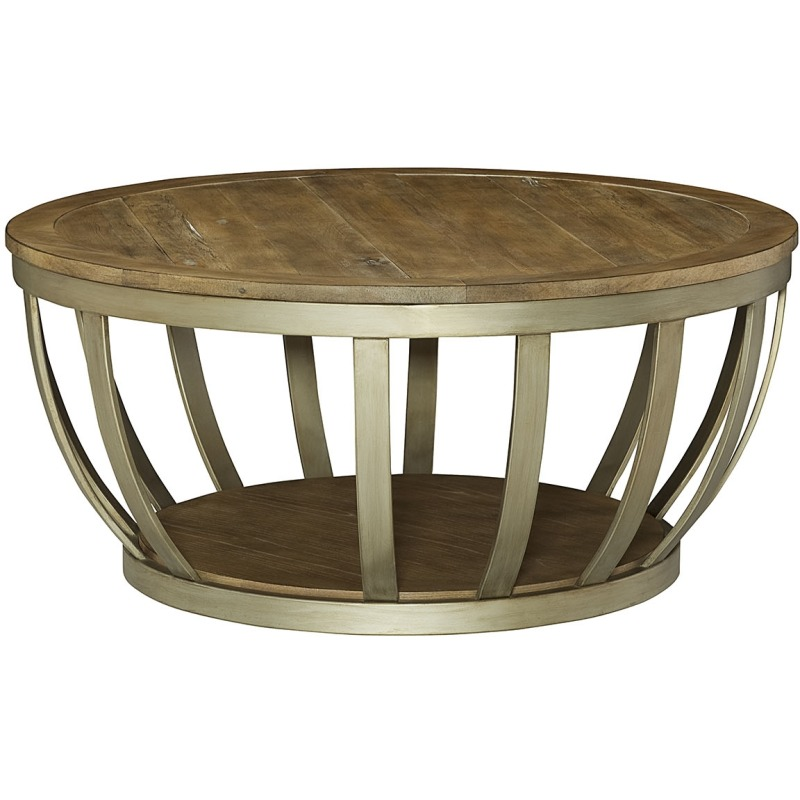 Modern Theory Round Cocktail Table