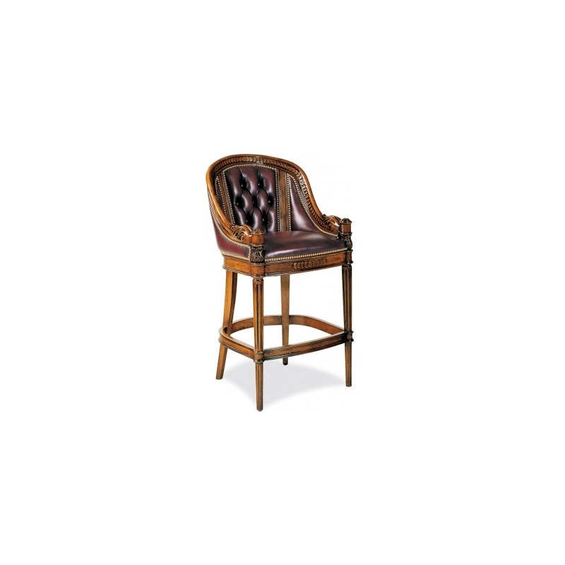 127-30Appointment Tufted Bar Stool