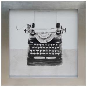 Typewriter Framed Canvas Art