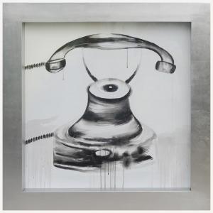 Telephone Framed Canvas Art
