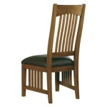 Arts & Crafts Side Chair with Leather Seat