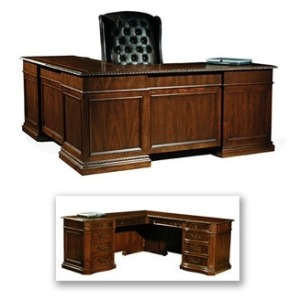 Old World Executive L-Desk