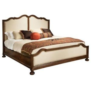 Vintage European Upholstered King Bed