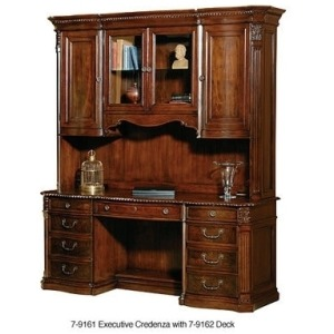 Old World Executive Hutch & Deck