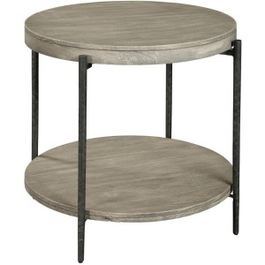 Bedford Park Gray Round Side Table