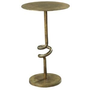 Bronze Scroll Pedestal Table