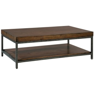 Monterey Point Planked Top Rectangular Coffee Table