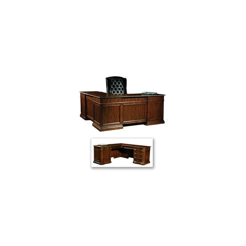 7-9167 Old World Executive L-Desk