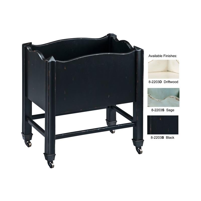 8-2203B Black Book Cart