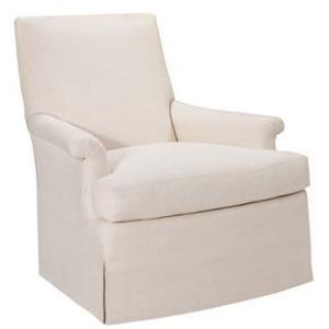 Virginia Skirted Swivel Chair