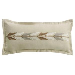 Belmont Embroidered Linen Lumbar Pillow