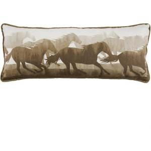 Brown & White Running Horse Body Pillow