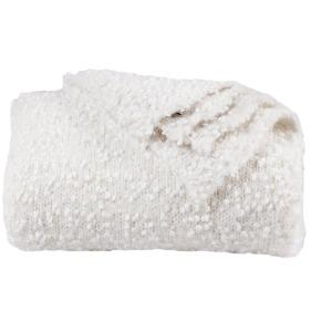 Pebble Creek Super Soft Throw Blanket - White