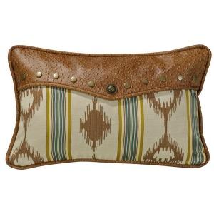 Alamosa Oblong Envelope Pillow - Faux Ostrich Leather