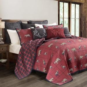 Woodland Plaid Quilt Set FULL/QUEEN