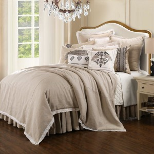 Charlotte 4-PC Super King Farmhouse Style Comforter Set - Taupe