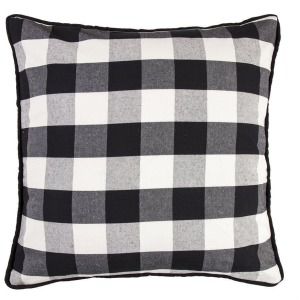 Camille Black & White Buffalo Check Euro Sham