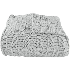 Hand Knitted Chess Throw - Gray