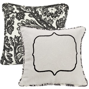 Augusta Matelasse Throw Pillow w/Embroidery Detail