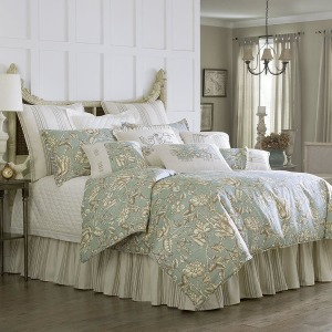 Gramercy 4-PC Aqua Queen Comforter Set - Floral Print