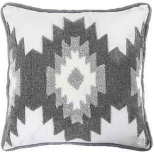 Free Spirit Throw Pillow w/Crewel Embroidery