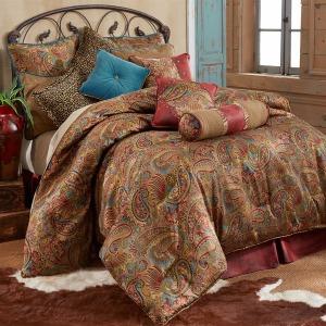 San Angelo 4PC King Comforter Set - Red