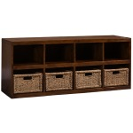 TUSCAN RETREAT ® STORAGE CUBE WITH BASKETS - OXFORD ANTIQUE PINE