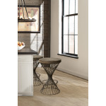 Kanister Backless Bar Stool - Walnut/Dark Pewter