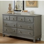 Lake House 8 Drawer Dresser - Stone