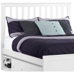 Marley Full Mission Headboard - White