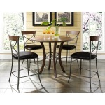 Cameron 5pc Counter Height Wood Dining Set with X Back Stools