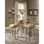 Brookside 3pc Bistro Set w Diamond Barstools