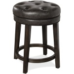 Krauss Backless Swivel Counter Stool - Charcoal Gray