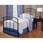 Wendell Twin Bed Set Textured Black
