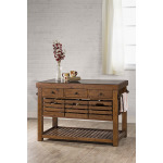 Tucan Retreat Kitchen Island with Adjustable Shelf and 3 Drawers - Antique Pine