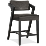 Snyder Non Swivel Counter Height Stool - Blackwash