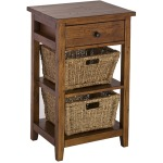 Tuscan Retreat 2 Basket Stand - Antique Pine