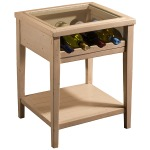 Tuscan Retreat® Wine Display Table - Country White