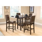 Arcadia 5pc Counter Height Set w Parsons Stools