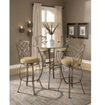 Brookside 3pc Bistro Set with Hanover Barstools