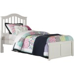 Twin Finley Arch Spindle Platform Bed - White