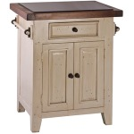 Tuscan Retreat Small Kitchen Island - Country White