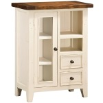 Tuscan Retreat Coffee Cabinet - Country White