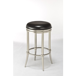 Cadman Backless Barstool - Dull Nickel