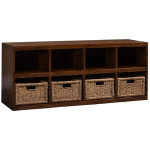 TUSCAN RETREAT  STORAGE CUBE WITH BASKETS - OXFORD ANTIQUE PINE