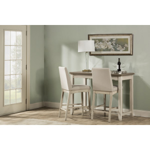 Clarion 3-Piece Counter Height Side Dining Set with Parson Stools
